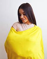 Милкснуды Накидка для кормленияДля кормящих женщин грудью Молочные фартуки и шарфы на коляску - люльку Жовтий