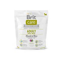 Корм для взрослых собак мелких пород Brit Care Adult Small Breed Lamb&Rice с ягненком и рисом, 1 кг