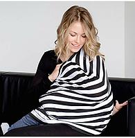 Милкснуды Накидка для кормленияДля кормящих женщин грудью Молочные фартуки и шарфы на коляску - люльку Зебра