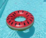 ХИТ! Надувной круг Арбуз, диаметр - 70 см. Оригинальные популярные надувные круги в ассортименте. Розница, опт, фото 1