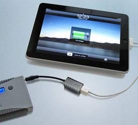 Переходник для зарядки iPad от Powergorilla, Minigorilla Powertraveller Gorilla-Pad Connector серого цвета