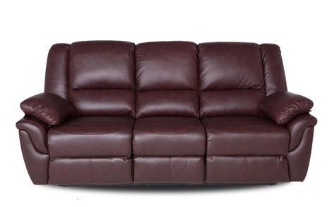 """Кожаный раскладной диван  """"ALABAMA"""", коричневый (199см)"""