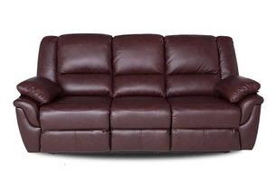 """Кожаный раскладной диван  """"ALABAMA"""", коричневый (199см), фото 2"""