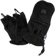 Перчатки флисовые с петлями чёрные MFH 15311A