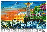 """Схема для вышивания бисером  А4 формата DANA  """"Ночной маяк"""" 2275"""