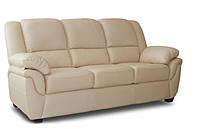 """Кожаный раскладной диван  """"ALABAMA"""", бежевый (199см)"""