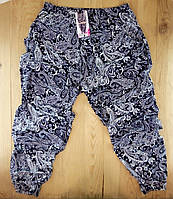 Cултанки БАТАЛ 50-62 размер женские цветные Ласточка с карманами и манжетами (разные рисунки) ЛЖЛ-3035