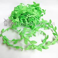 Тесьма с листьями, искусственная лиана, салатовый