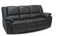 """Кожаный раскладной диван  """"ALABAMA"""" (199см), черный"""