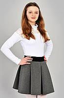 Серая юбка для школы