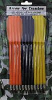 Стрелы для арбалета 12шт., 3 цвета MFH 38213