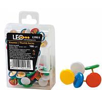 Кнопки цветные L1911 100шт (гвозди для доски)