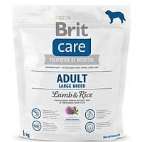 Корм для крупных и гигантских пород собак Brit Care Adult Large Breed Lamb & Rice с ягненком и рисом, 1 кг
