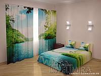 ФотоКомплект Озеро шторы + покрывало FRA-10001302