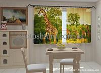 Фотошторы Жирафы в кухне 1,5м х 2,5м