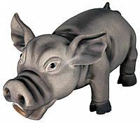 Игрушка Trixie Pig для собак латексная, хрюкающий поросенок, 17 см