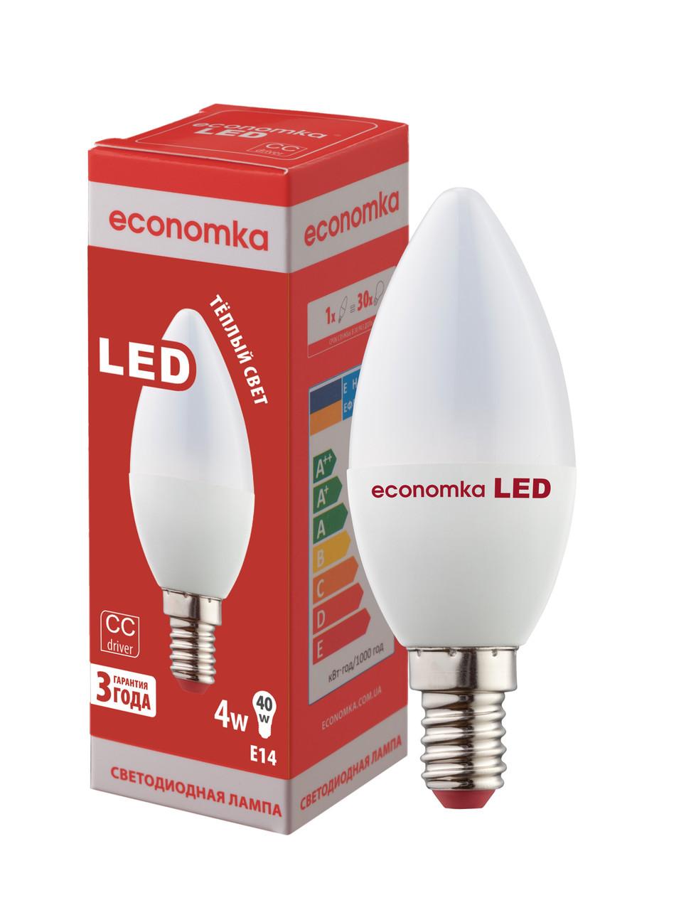 Светодиодная лампа Economka LED CN 4W E14-2800 К