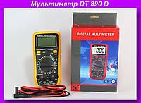 Мультиметр DT 890 D,Цифровой мультиметр, тестер, цифровой тестер, электрический тестер напряжения