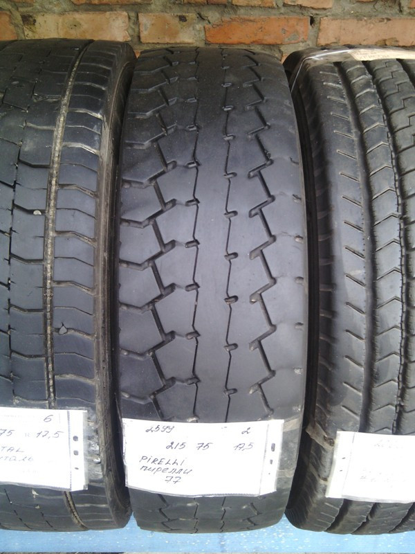 Шины б.у. 215.75.r17.5 Pirelli TR85 Пирелли. Резина бу для грузовиков и автобусов