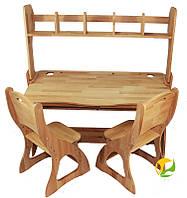 Комплект: парта растишка, два стульчика с надстройкой
