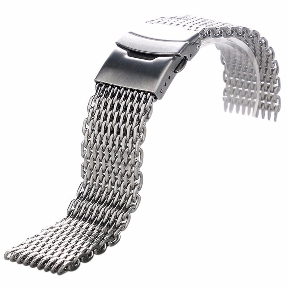 Браслет для часов из нержавеющей стали, миланский стиль, литой. 18 мм