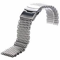 Браслет для часов из нержавеющей стали, миланский стиль, литой. 18-й размер.