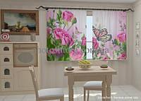 Фотошторы Розовые нотки в кухне 1,5м х 2,5м