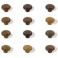 Мебельная ручка кнопка (кольцо) 1-038
