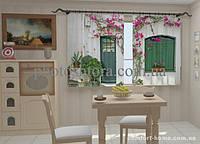 Фотошторы Фасад в цветах для кухни 2 (1,5м х 2,5м)