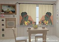 Фотошторы Африканские мотивы в кухне (1,5м х 2,5м)