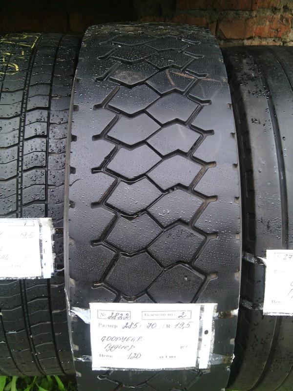 Шины б.у. 285.70.r19.5 Goodyear Regional RHD Гудиер. Резина бу для грузовиков и автобусов