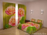 ФотоКомплект Английская роза шторы + покрывало, арт. FRA-10 001280