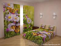ФотоКомплект Бабочки шторы + покрывало, арт. FRA-10 001282