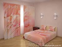 ФотоКомплект Очаровательные тюльпаны шторы + покрывало FRA-10001299