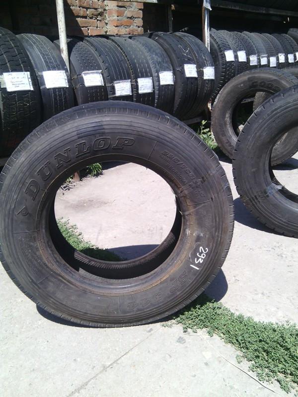 Шины б.у. 225.75.r17.5 Dunlop SP344 Данлоп. Резина бу для грузовиков и автобусов