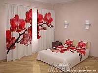 ФотоКомплект Королева орхидей шторы + покрывало FRA-10001678