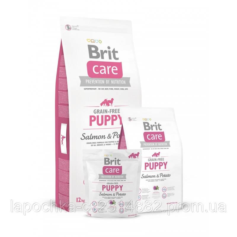 Корм для щенков Brit Care Grain-free Puppy Salmon & Potato с лососем и картофелем
