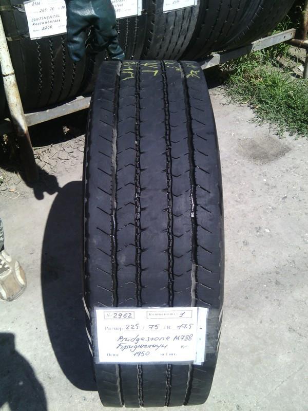 Шины б.у. 225.75.r17.5 Bridgestone M788 Бриджстоун. Резина бу для грузовиков и автобусов