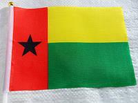 Флажок Гвинеи-Бисау 13x20см на пластиковом флагштоке