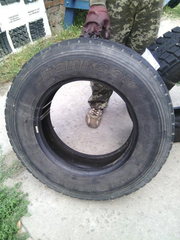 Шины б.у. 225.75.r17.5 Hankook DH05 Хенкок. Резина бу для грузовиков и автобусов