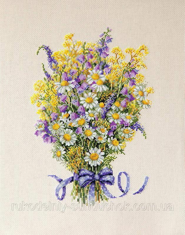 Летние цветы для вышивки