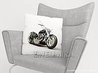 ФотоПодушка Черный мотоцикл арт. 10 001649