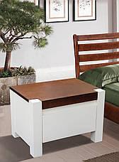 Кровать двуспальная из массива сосны  Беатрис Микс мебель, цвет  ваниль + темный орех, фото 2