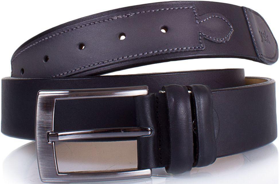 Качественный мужской ремень из нубука Ysk Shi4044-black черный, 115х3,7 см