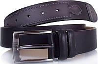 Качественный мужской ремень из нубука Y.S.K. (УАЙ ЭС КЕЙ) SHI4044-black черный, ДхШ: 115х3,7 см