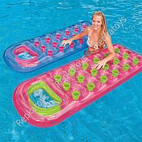 """Пляжный надувной матрас Intex """"Стакан"""", 2 цвета, размер 188-71 см, в пакете (ОПТОМ) 59895"""