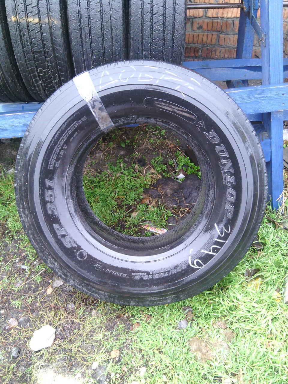 Шины б.у. 305.70.r19.5 Dunlop SP351 Данлоп. Резина бу для грузовиков и автобусов