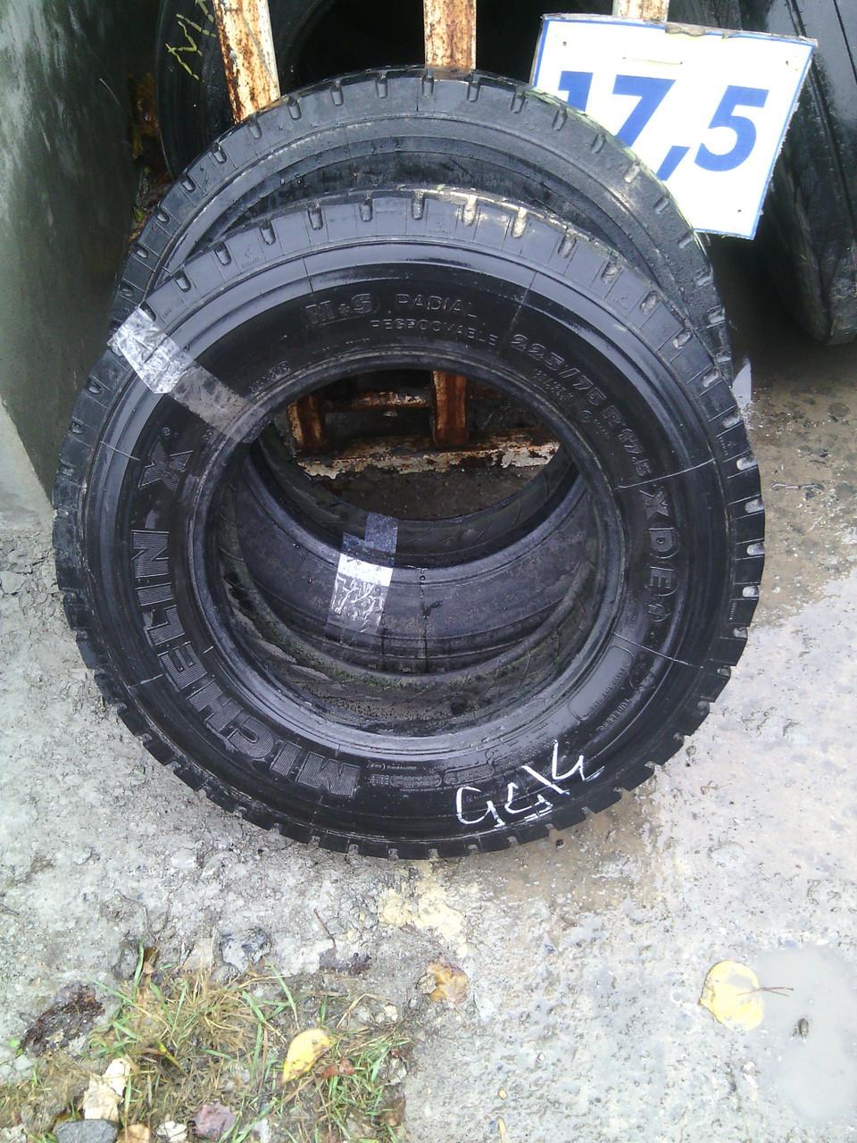 Шины б.у. 225.75.r17.5 Michelin XDE1 Мишлен. Резина бу для грузовиков и автобусов