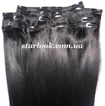 Набір натуральних волосся на кліпсах 60 см відтінок №1 160 грам