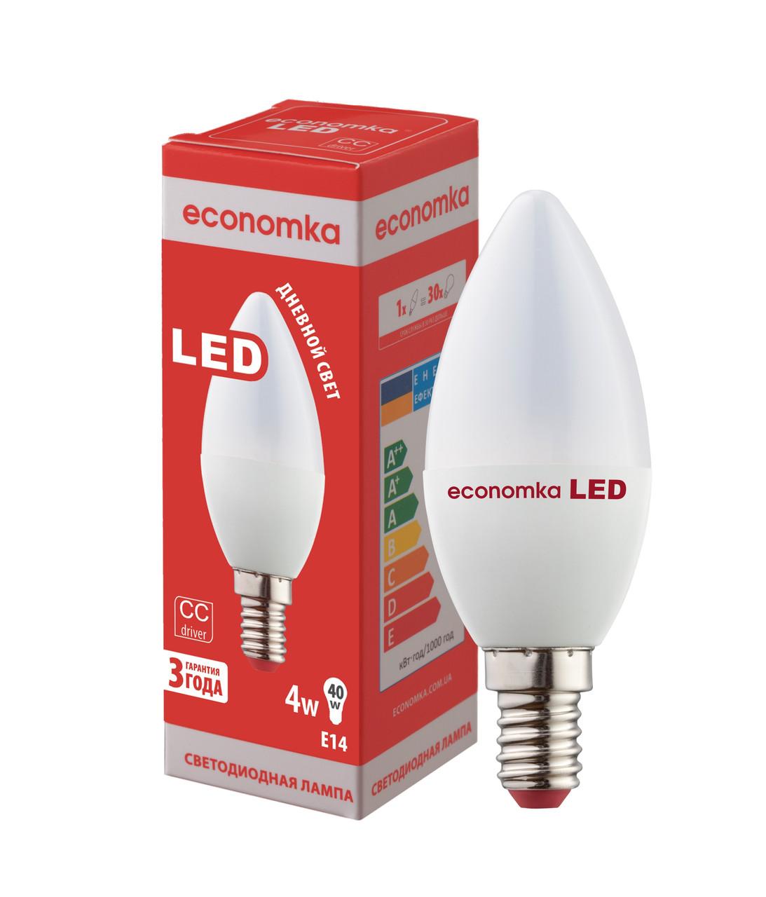 """Светодиодная лампа Economka LED CN 4W E14-4200 К - ООО """"Космос Лайтинг Украина"""" в Одессе"""